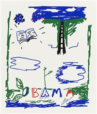 obama (from the portfolio artists for obama) by robert gober