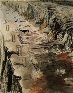 dragline excavating overburden by graham sutherland