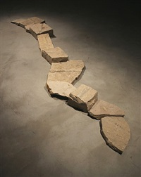 fossil line by richard long