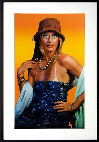woman in sun dress by cindy sherman