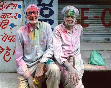 holi celebration, vrindavan, india by robert polidori