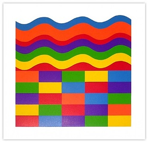 arcs and bands in color 'a' by sol lewitt