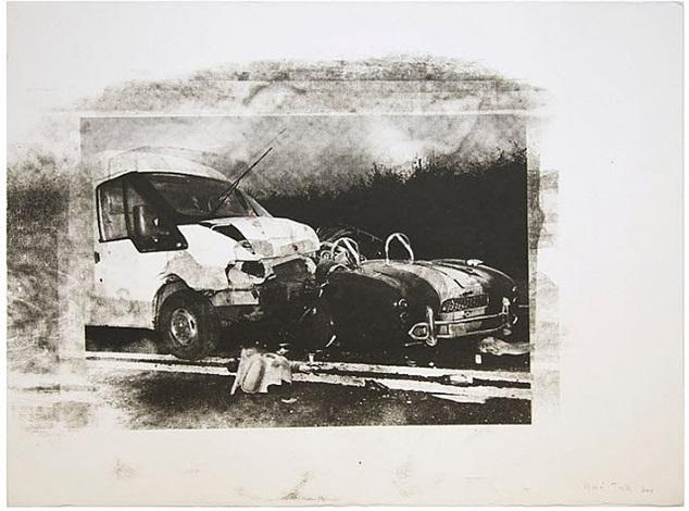 transit vs cobra disaster on paper by gavin turk
