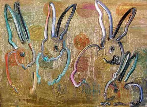multiple bunnies by hunt slonem