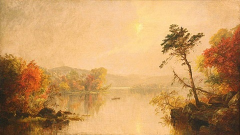 early autumn on lake george by jasper francis cropsey