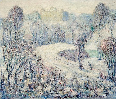 central park by ernest lawson
