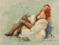 pin-up in fur by ed tadiello