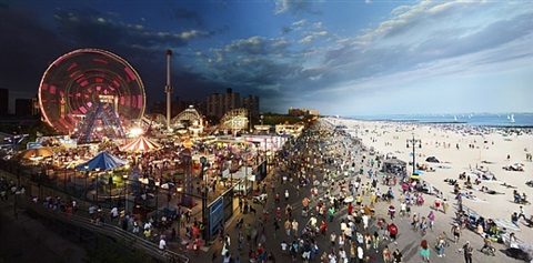 coney island, day to night by stephen wilkes