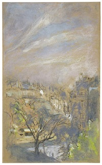 morning light on place vintimille, paris by edouard vuillard