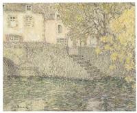 automne doré, quimperlé by henri le sidaner