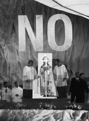 no (pope) by santiago sierra
