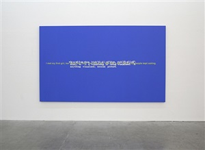 untitled (joke and definition paintings) by stefan brüggemann