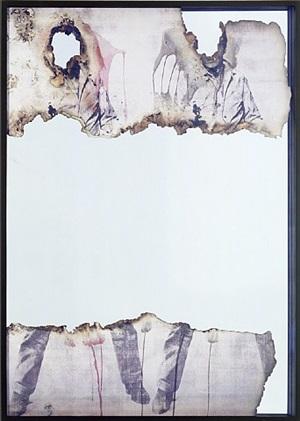 self portrait of you + me (elvis head and feet) by douglas gordon