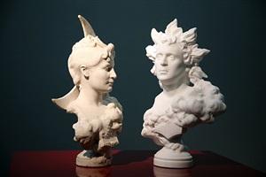 self-portrait as helios vs selene by jean-léon gérôme by francesco vezzoli