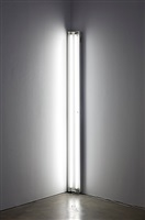 white around the corner by dan flavin
