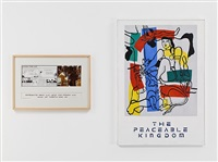 variable piece #70: 1971 (in process) global, crocodile tears: peaceable kingdom: lloyd xi (léger) by douglas huebler