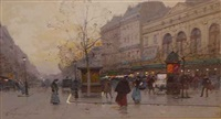place du chatelet by eugène galien-laloue