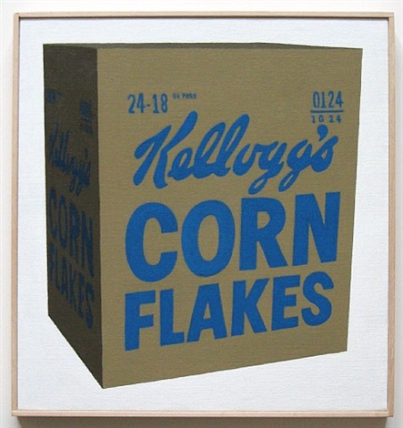 andy warhol kellogg's corn flakes box, 1964 #2 by richard pettibone