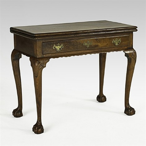 lot no. 1190: philadelphia chippendale card table
