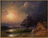 shipwreck at dawn by ivan konstantinovich aivazovsky
