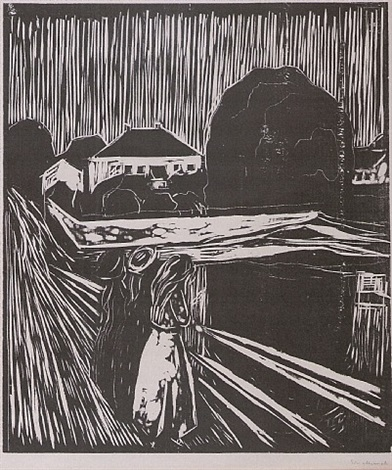 mädchen auf der brücke / the girls on the bridge by edvard munch