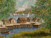 new england harbor by william chadwick