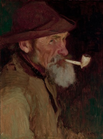 a maine fisherman by edward henry potthast