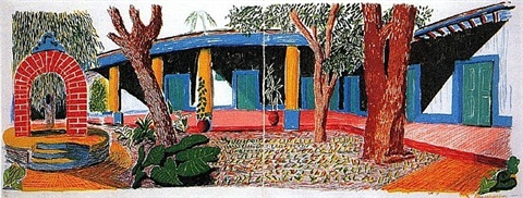 hotel acatlan: second day, from the moving focus series by david hockney