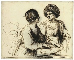 two female figures by guercino