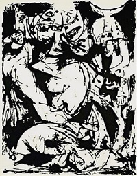 untitled, cr1095 (after painting number 22, cr344) by jackson pollock
