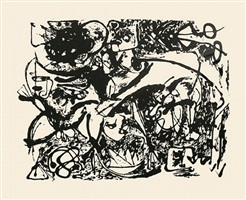 untitled, cr1092 (after painting number 8, cr327) by jackson pollock