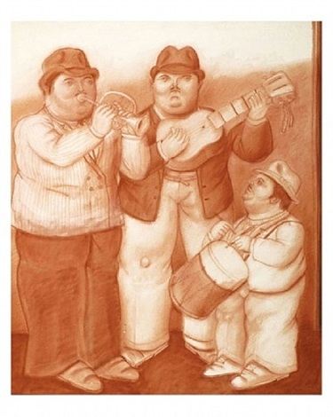 the three musicians by fernando botero