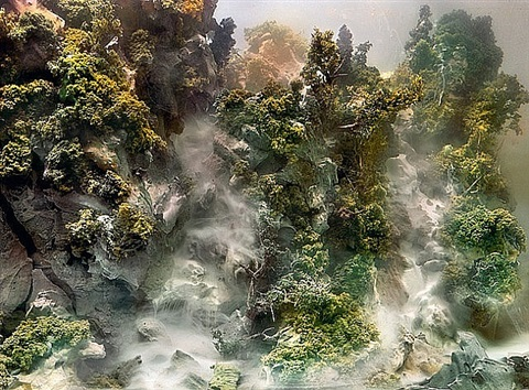 waterfall 04h by kim keever