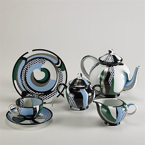 rosenthal porcelain tea set by roy lichtenstein