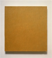 from the inventory: late roman painting/french yellow ochre medium tint by marcia hafif