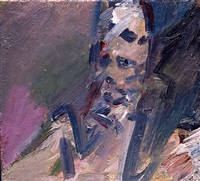 portrait of catherine lampert by frank auerbach