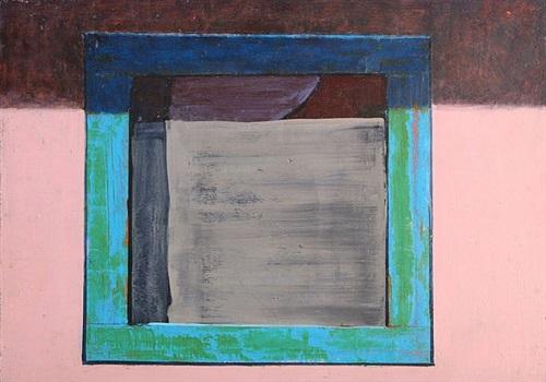 pueblo window and pink by jorge fick