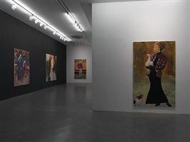 installation view, simon lee gallery by paulina olowska