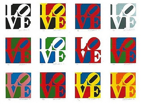 book of love portfolio by robert indiana
