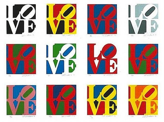 book of love portfolio by robert indiana