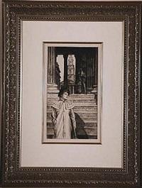 le portique de la galerie nationale a londres by james jacques joseph tissot