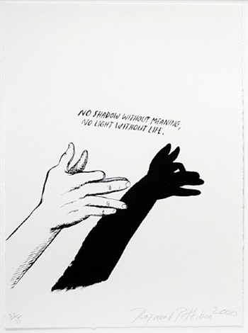 untitled (no shadow without meaning...),from plots on loan i by raymond pettibon
