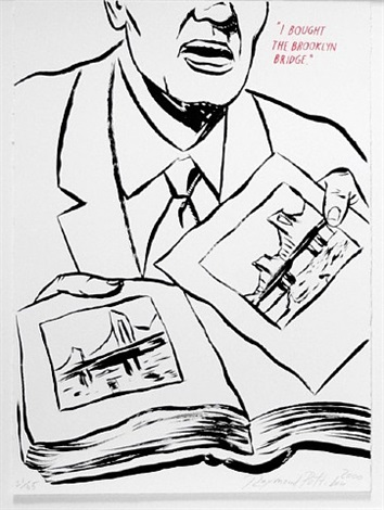 untitled (i bought the brooklyn bridge), from plots on loan i by raymond pettibon