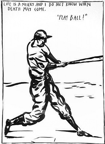 untitled (play ball) by raymond pettibon