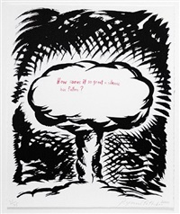 untitled (how comes it so great a silence...), from plots on loan i by raymond pettibon