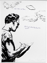 untitled (the truth is out there...), from plots on loan i by raymond pettibon
