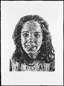georgia fingerprint (state ii) by chuck close