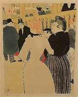 au moulin rouge, la goulue et sa soeur by henri de toulouse-lautrec