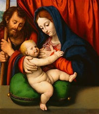 virgin and child with a saint by andrea solario