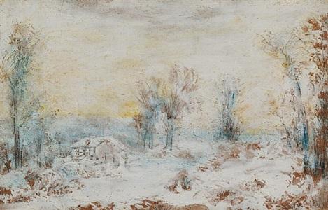 snow scene by ralph albert blakelock